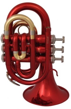 PT711R Bb Pocket Trumpet (red lacquer) . Prelude