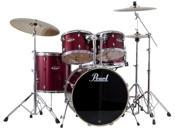 EXX725C91 EXX Export 5-Piece Drum Set w/Hardware (red wine) . Pearl