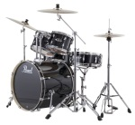 EXX725C31 EXX Export 5-Piece Drum Set w/Hardware (jet black) . Pearl