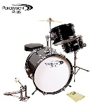 PPJR3BK Junior Drum Set (3 piece, black) . Percussion Plus