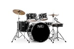 Mapex USA RB5294FTCDK Rebel Drum Set (5 piece, black) . Mapex