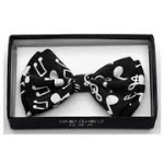 Aim 29606 Music Notes Bow Tie