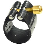 1RVS Soprano Saxophone Leather ligature (dark) . Rovner