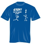 100374M Stop! You're under A Rest T-Shirt (medium) . Music Treasures
