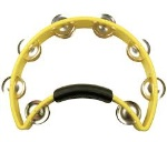RT1050 Half Moon Tambourine (yellow, nickel jingles) . Rhythm Tech