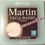 V720 Vega Tenor Banjo Strings (4-string, nickel wound) . Martin
