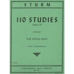 Studies (110) op.20 v.1 . Double Bass . Sturm