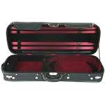 CA1906BLK/RED Oblong Violin Case (4/4, black/red) . Eastman
