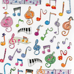 29519 Whimsy Music Stickers . Aim