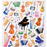 29521 Musical Instruments Stickers . Aim