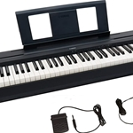 P45 Digital Piano (88 weighted keys, w/stand, black) . Yamaha