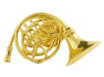FPP558G French Horn Pin (gold) . Harmony