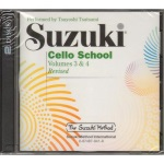 Cello School (cd only) v.3 and 4 . Cello . Suzuki