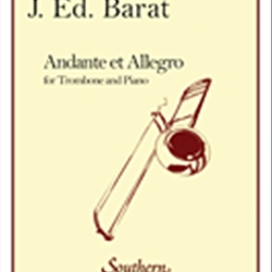 Adante and Allegro . Trombone or Baritone and Piano . Barat
