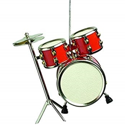 9219 Drum Set Ornament (red) . AIM