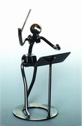 461161 Metal Conductor Statue . Music Treasures