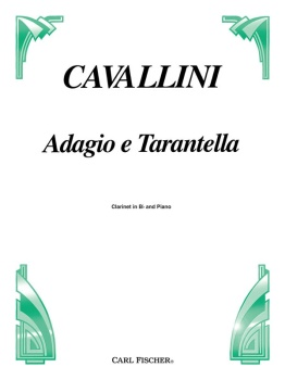 Adagio e Tarantella . Clarinet and Piano . Cavallini