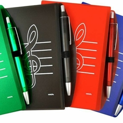 48904C Trble Clef Notebook w/Pen (red) . Aim