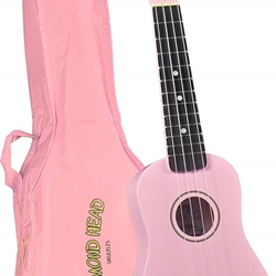 DU-110 Maple Sopano Ukulele w/Bag (pink) . Diamond Head
