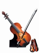 "400009 Miniature Violin (7"") w/ Stand and Case . Music Treasures"