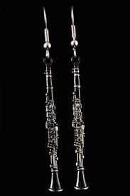 547ECS Clarinet Earrings (black) . Harmony