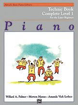 Alfreds Basic Piano Library Technic Book (for the later beginner) v.1 . Piano . Various